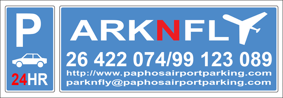 Paphos Airport Parking | Park 'N Fly, €3 per day. 26 422 074.